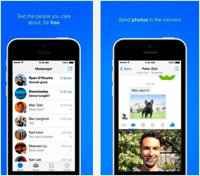 فيس بوك ماسنجر يُضيف إمكانية إرسال الفيديو والتقاط الصور لـ iOS