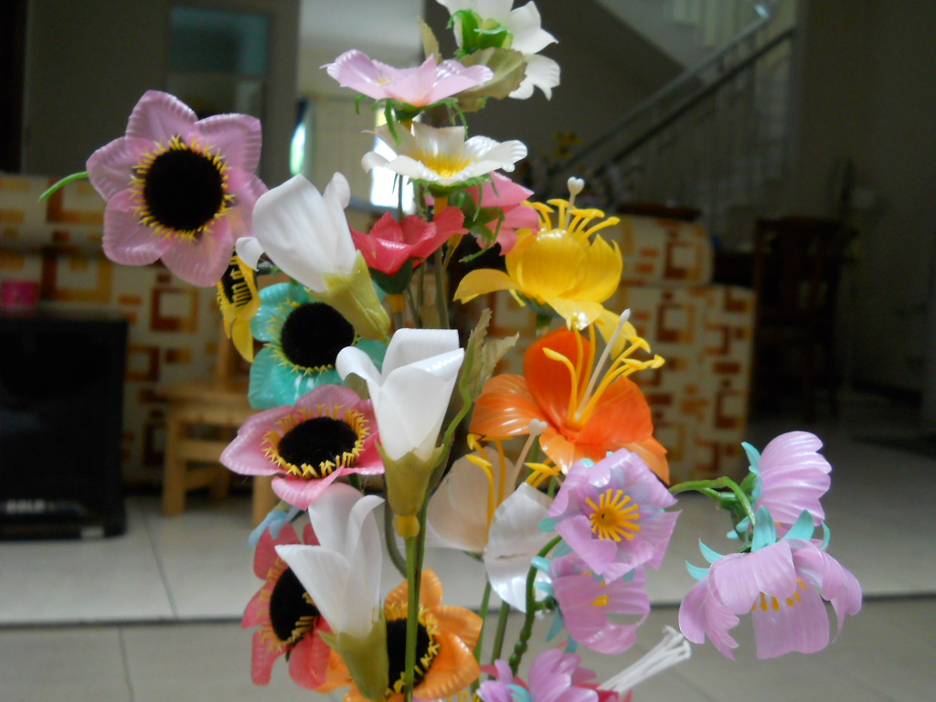 bunga yang memakai sisir sedotan bunga yang tidak pakai sisir sedotan