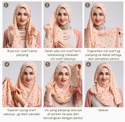 cara memakai jilbab pashmina lebaran terbaru 2018 jallosi