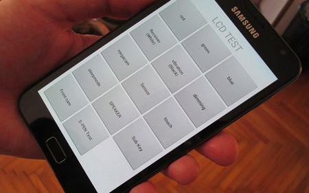 samsung LCD test