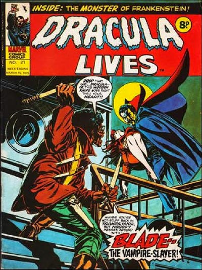 Marvel UK, Dracula Lives #21, Blade