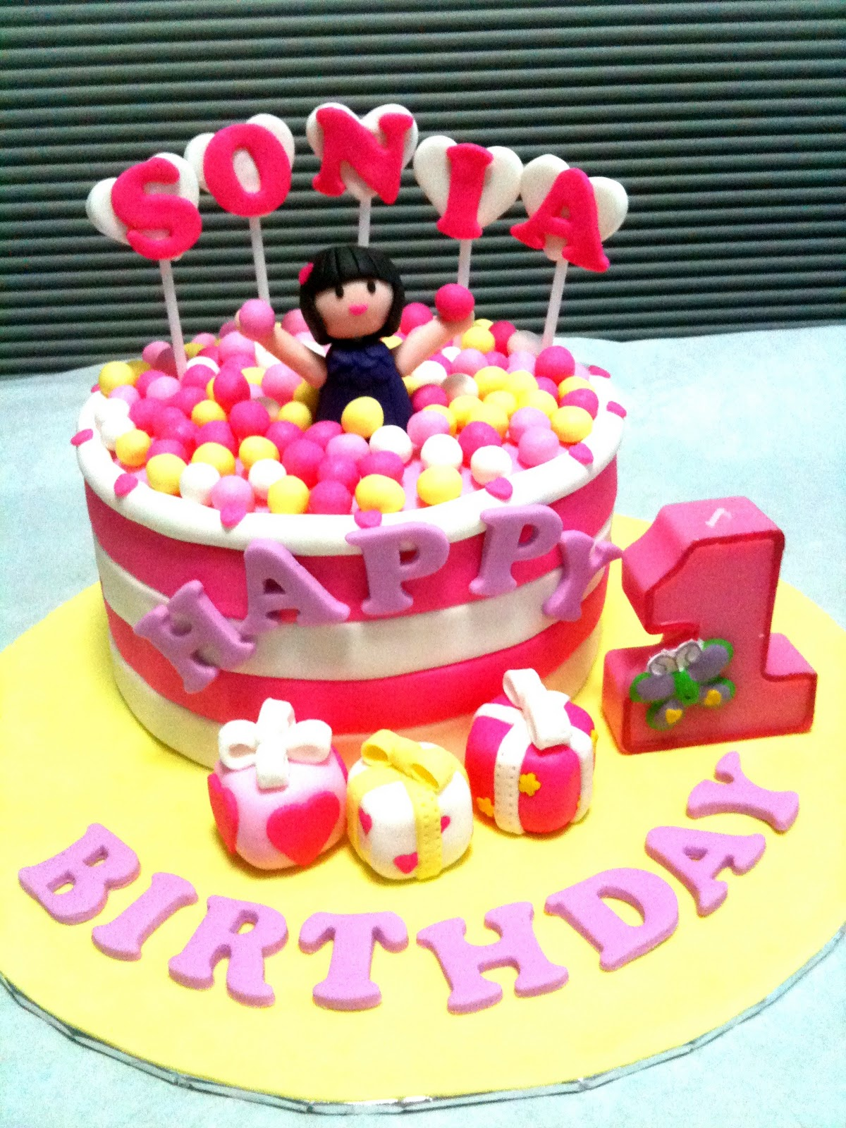 Cake Images Sonia : Oven Creations: Happy 1st Birthday Sonia