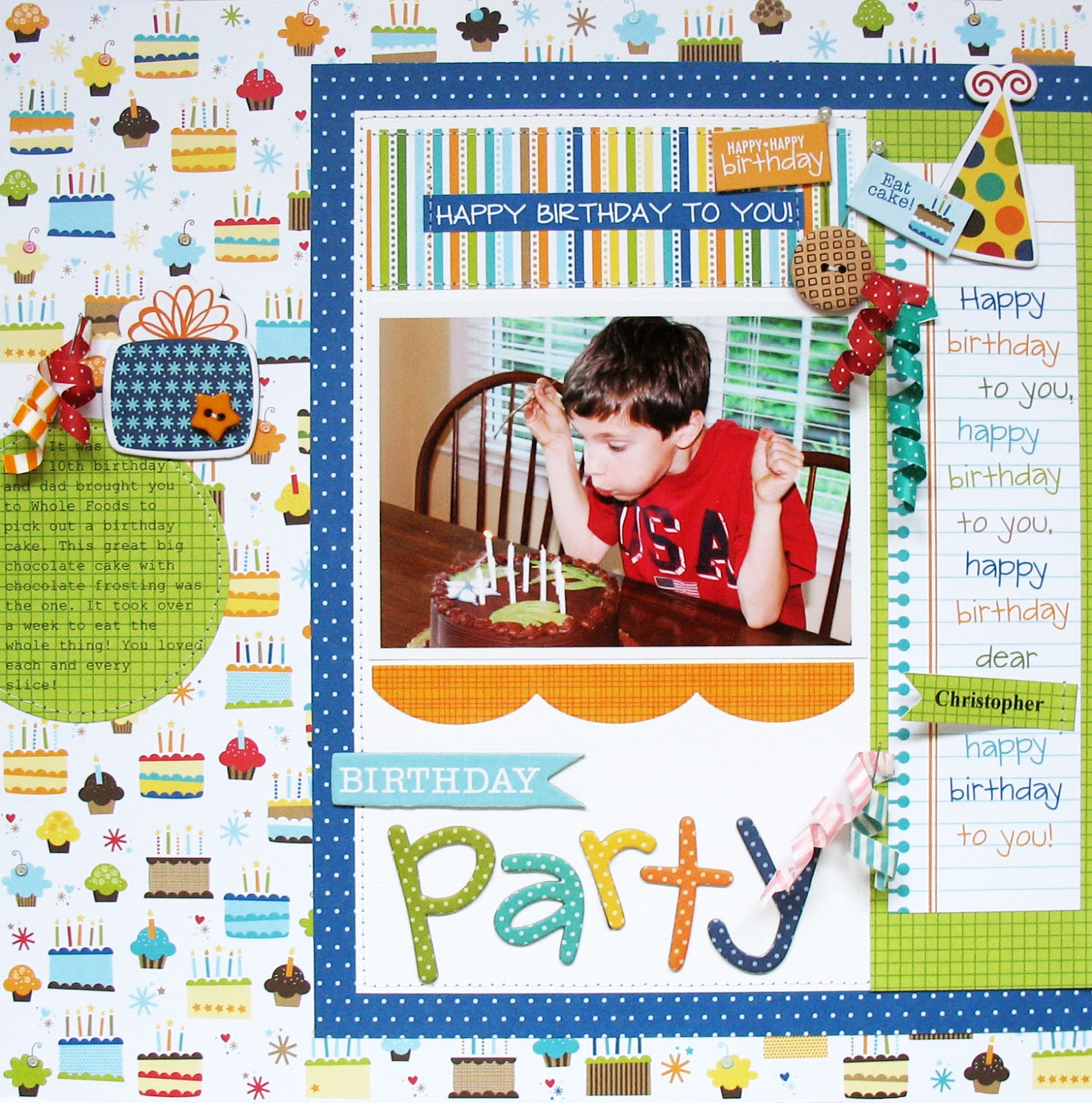 How to make scrapbook for birthday - I Hope You Can Make It Over To The Party At The Bella Blvd Blog Where There S A Lot More Birthday Inspiration