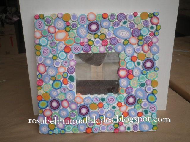 Rosabel manualidades marcos para espejos decorados con - Marcos de fotos manualidades ...