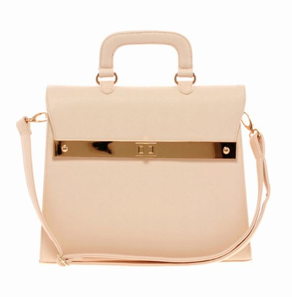 10 Best Top-Handle Bags For Summer 2013: Beige Asos Top-Handle Bag with Bar Lock Fitting