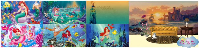The Little Mermaid Wall Murals