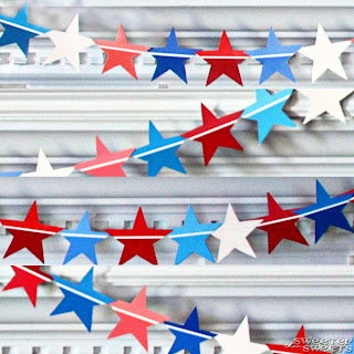 Star Spangled (Paint Chip) Banner by Tricia @ SweeterThanSweets