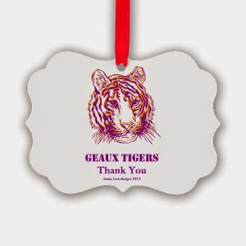 Geaux Tigers Thank You Picture Ornament