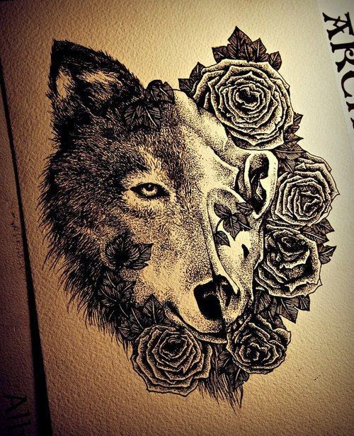 ♥ ♫ ♥  Awesome Wolf Tattoo ♥ ♫ ♥