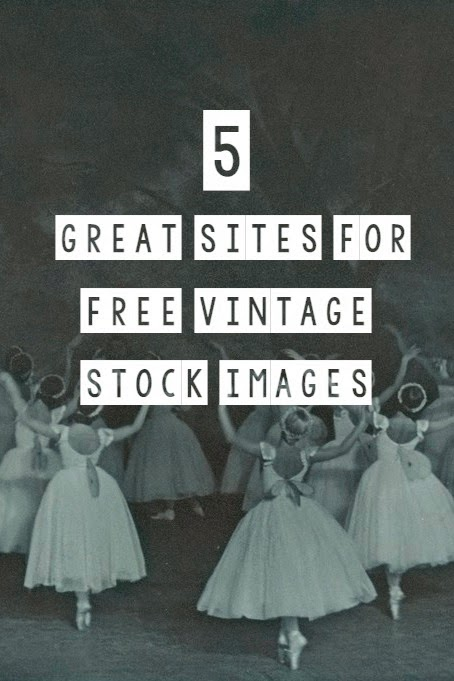 5 Great Sites for 100% FREE Vintage Stock Images for Your Blog Posts