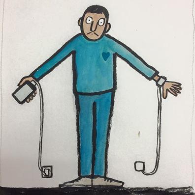 Hasil gambar untuk ilustrasi gambar jean julien menyindir kehidupan modern