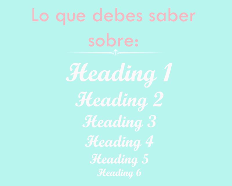 Aprende a utilizar los heading dentro de tus pos