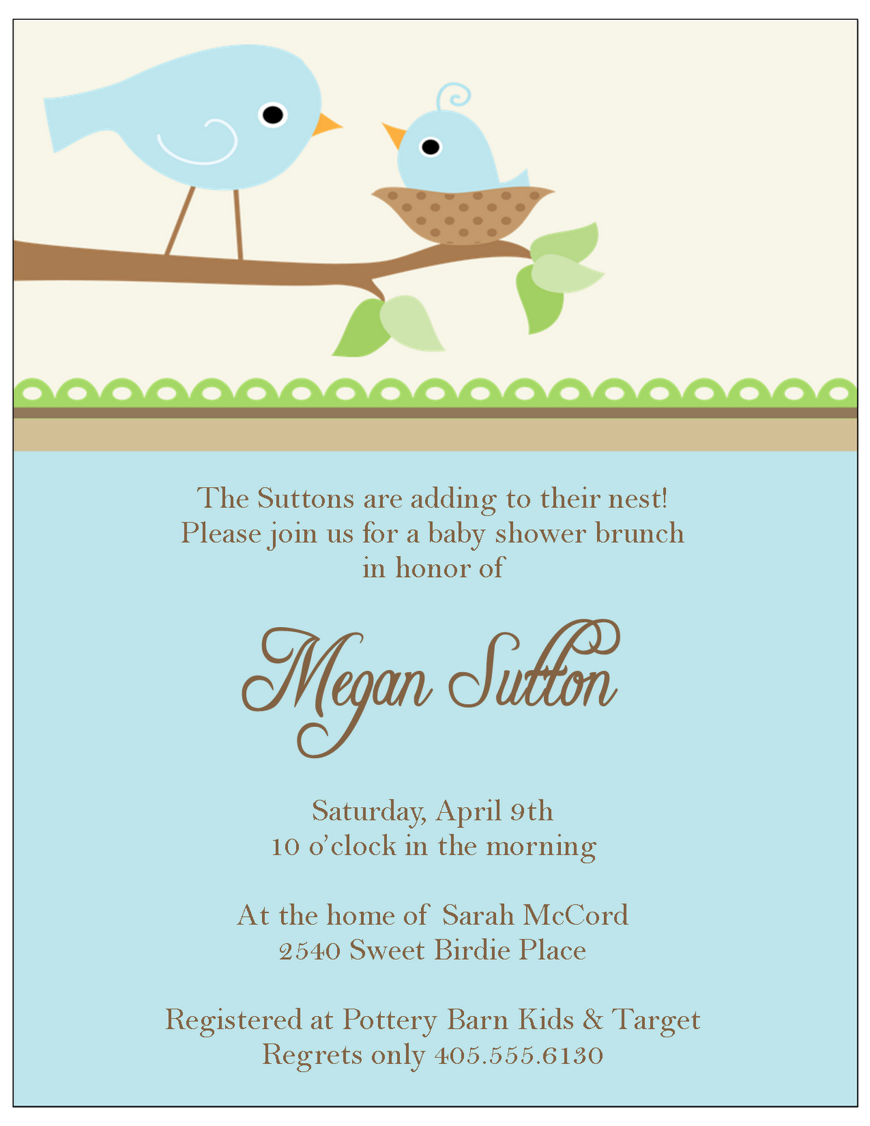 Little Bir Baby Shower Invitations Sweet Peach Paperie