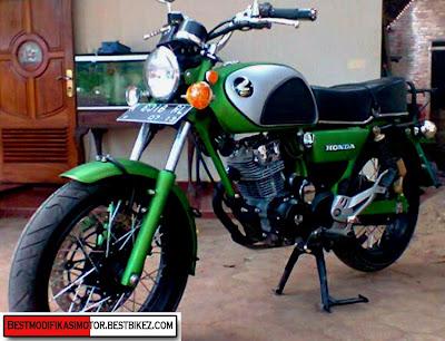 Modifikasi Honda CB Mesin Full Tiger 6 Speed - Gambar Modifikasi Motor