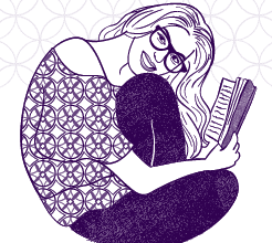 Curl Up & Read: a book themed blog design