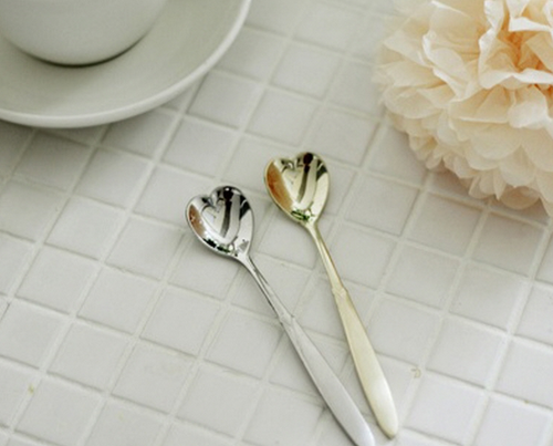 Heart Shaped Stainless Steel Tea Spoon Set