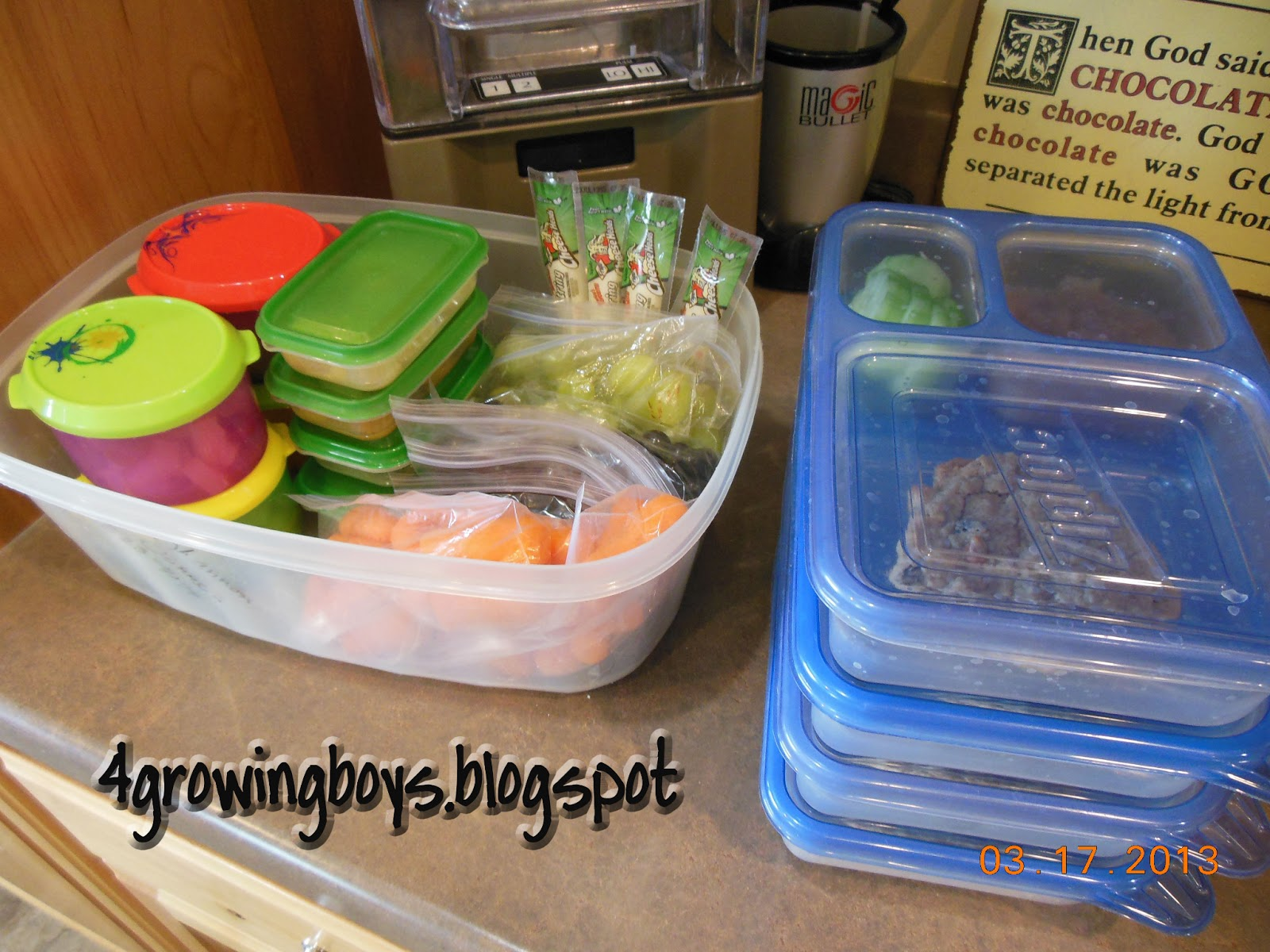 4 growing boys: school lunch ideas