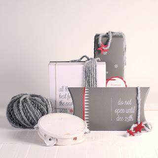 decoración navidad con lanas self packaging