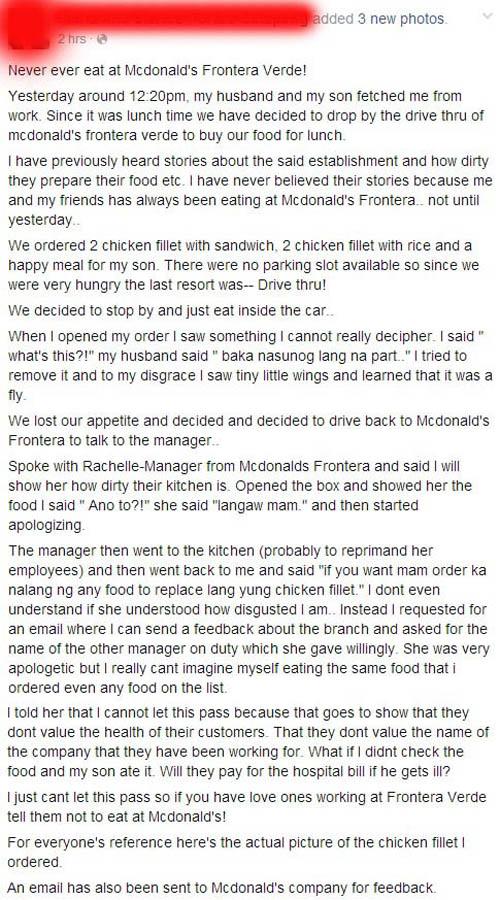 McDonalds Frontera Verde food scandal