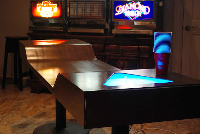 Custom Light Up Beer Pong Tables Add A Little Taste To The Game - Custom vinyl decals for beer pong tables