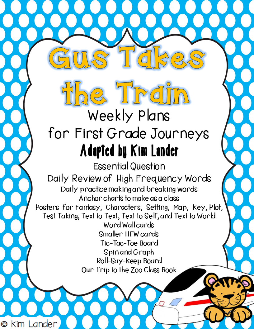 http://www.teacherspayteachers.com/Product/Gus-Takes-the-Train-Journeys-Supplemental-Materials-and-Lesson-Plans-1425427