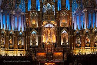 Inside Notre-Dame Basilica Montreal Canada