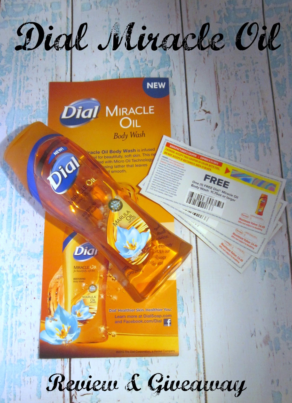 Dial Body Wash Miracle Oil Giveaway