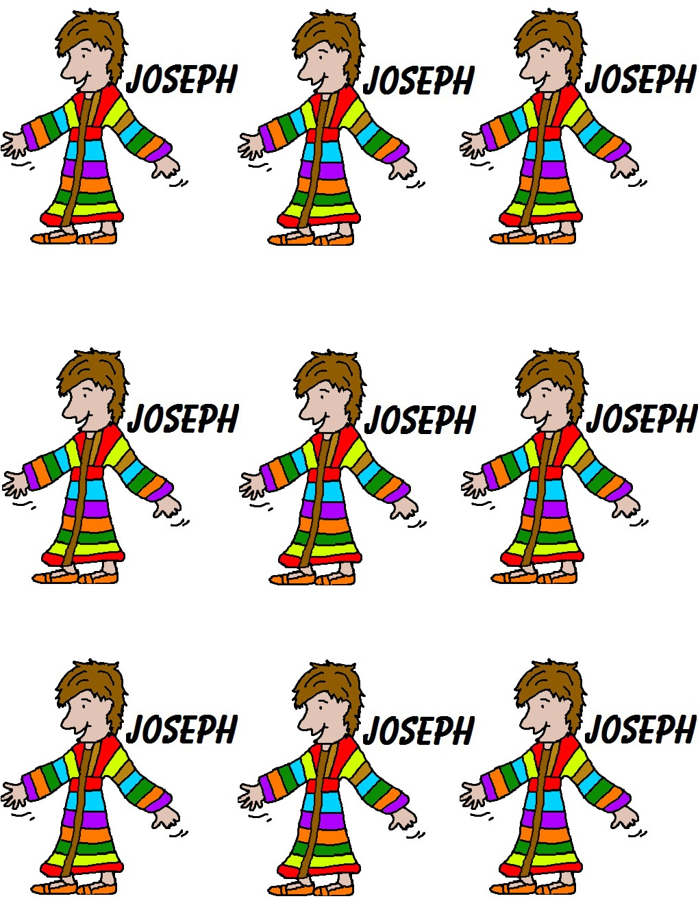 Free coloring page joseph coat of many colors