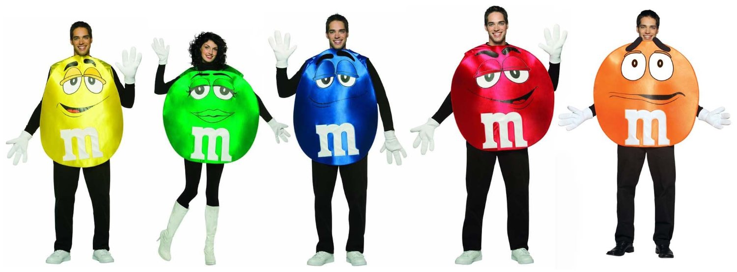 mm candy poncho group costume adult standard set of 5