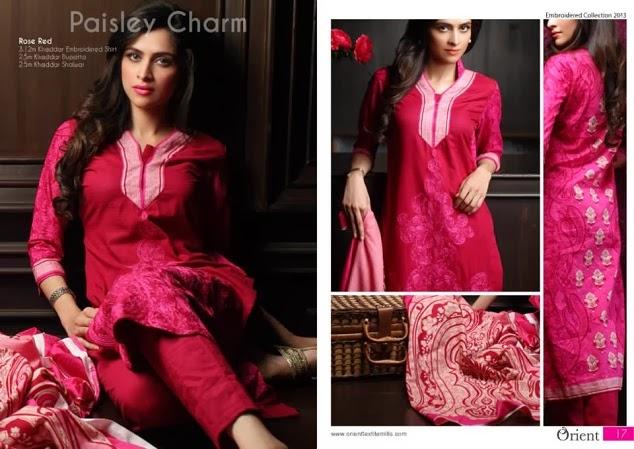 Orient Textile Fashion Dresses 2013-2014 New Kashmiri Khaddar Women's Dresses Wear Collection 2013-2014