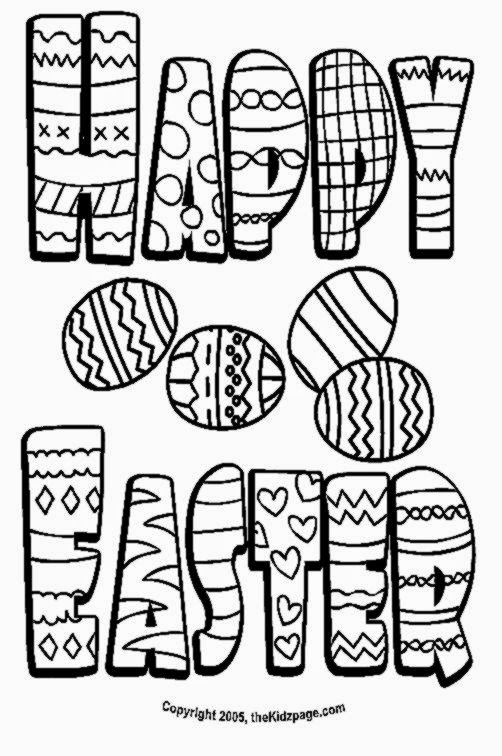 Happy easter wishes free coloring pages for kids printable