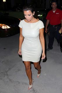 Kim Kardashian ina  classy leather outfit