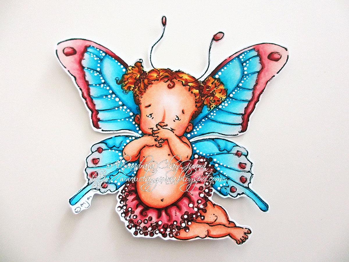 clayguana mo u0027s digital pencil baby fairy butterfly