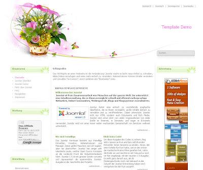 Siteground j15-141 (SpringBouquet) - шаблон для Joomla 1.5