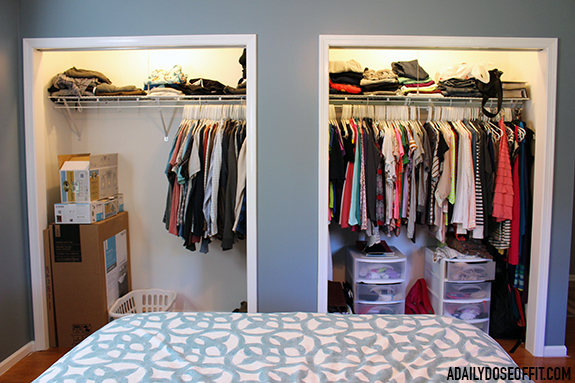 Use the KonMari Method to tidy up your closet and organize all the clothes that you really need.