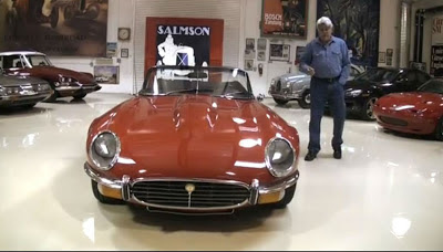 [Video] Jay Leno Drives Custom Jaguar E-Type V12