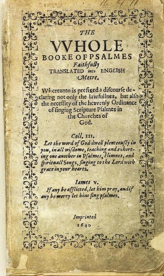 libro de salmos de 1640