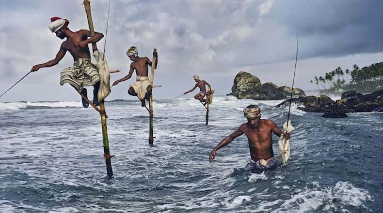 La antigua costumbre de la pesca con zanco