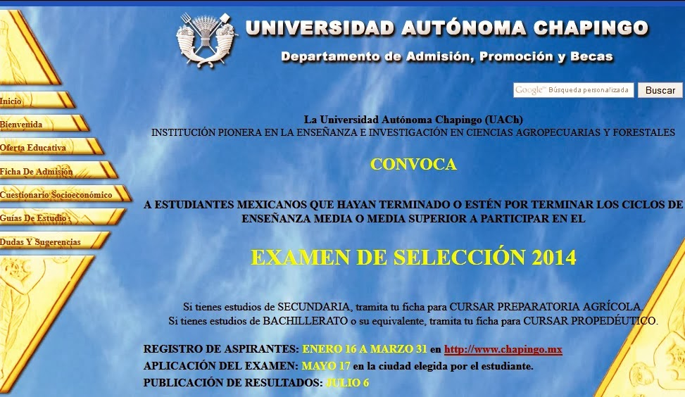 Examen de Admision 2014