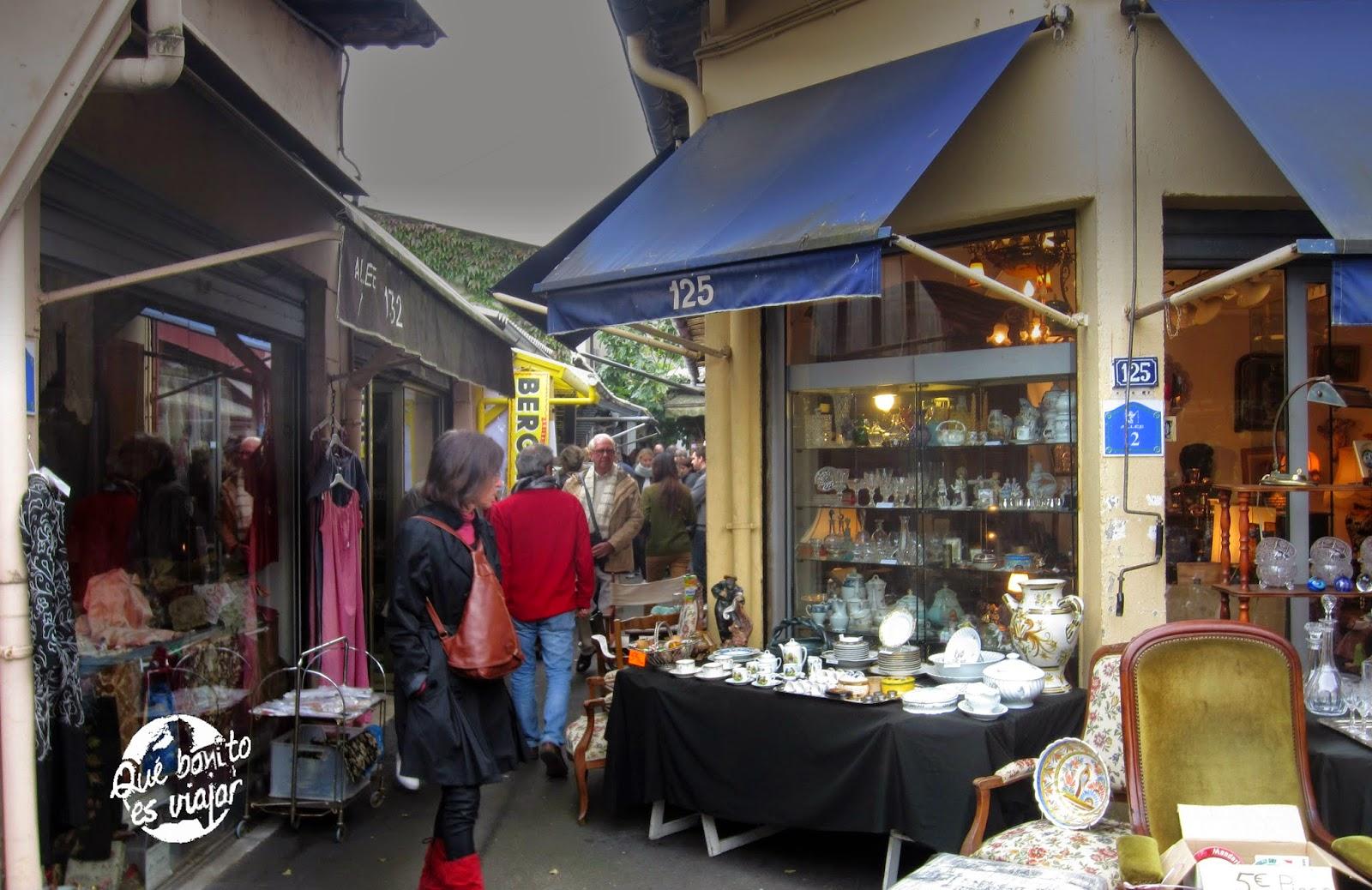 Mercado de las pulgas en Paris Vernaison
