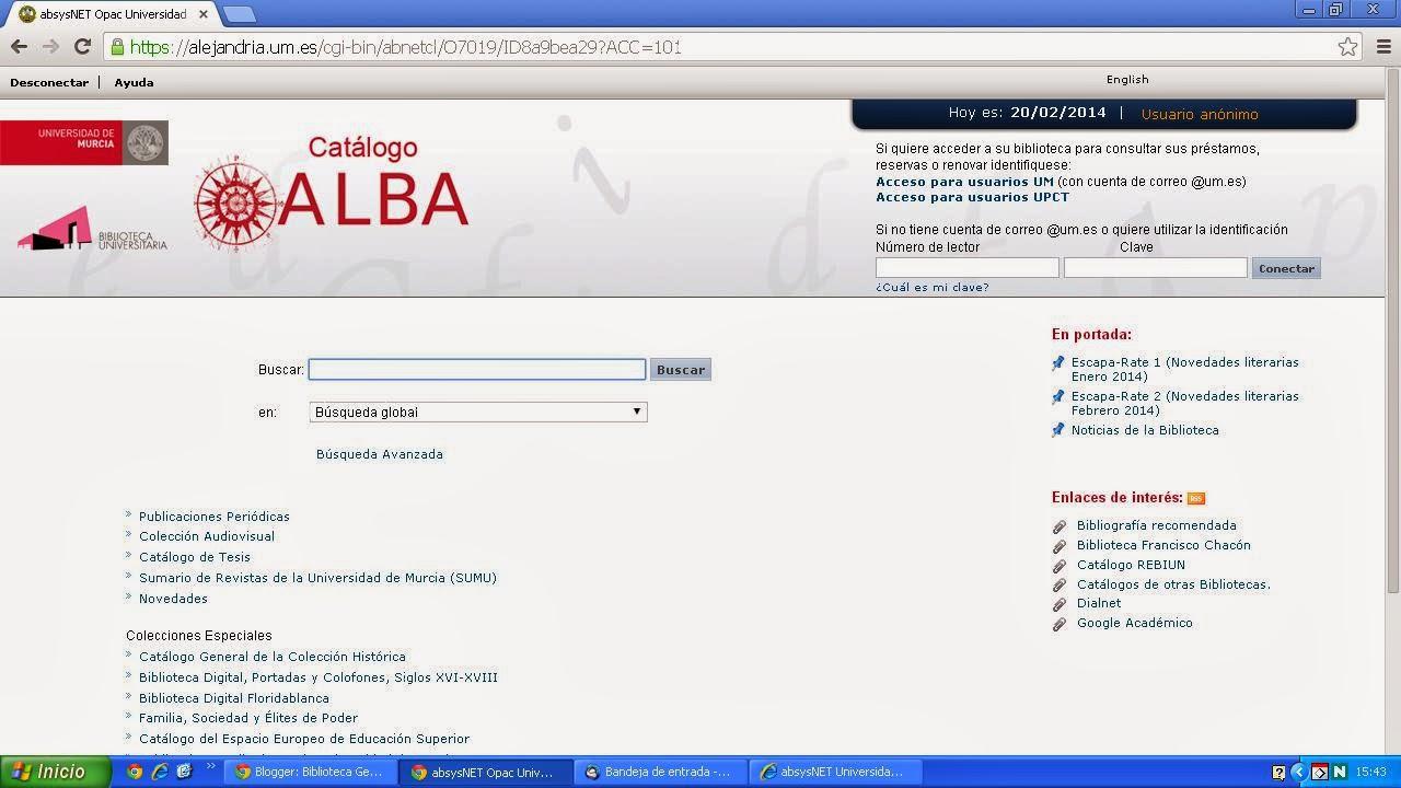 Nuevo Catálogo ALBA 2014