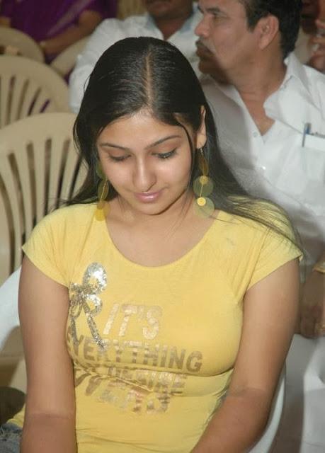 Monica In Yellow T-Shirt