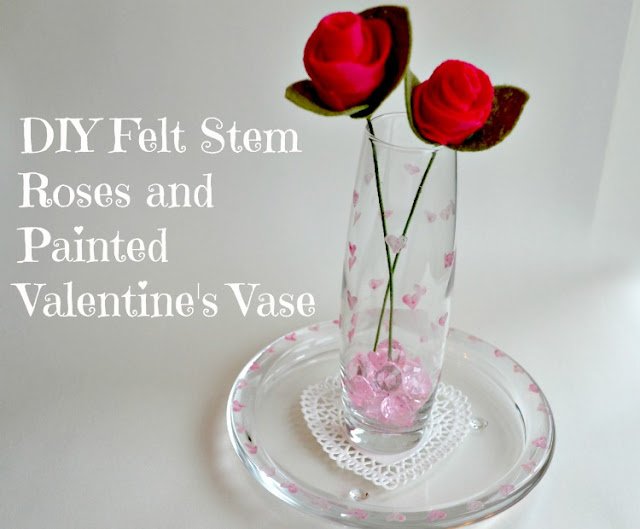 DIY fekt roses for Valentine's Day