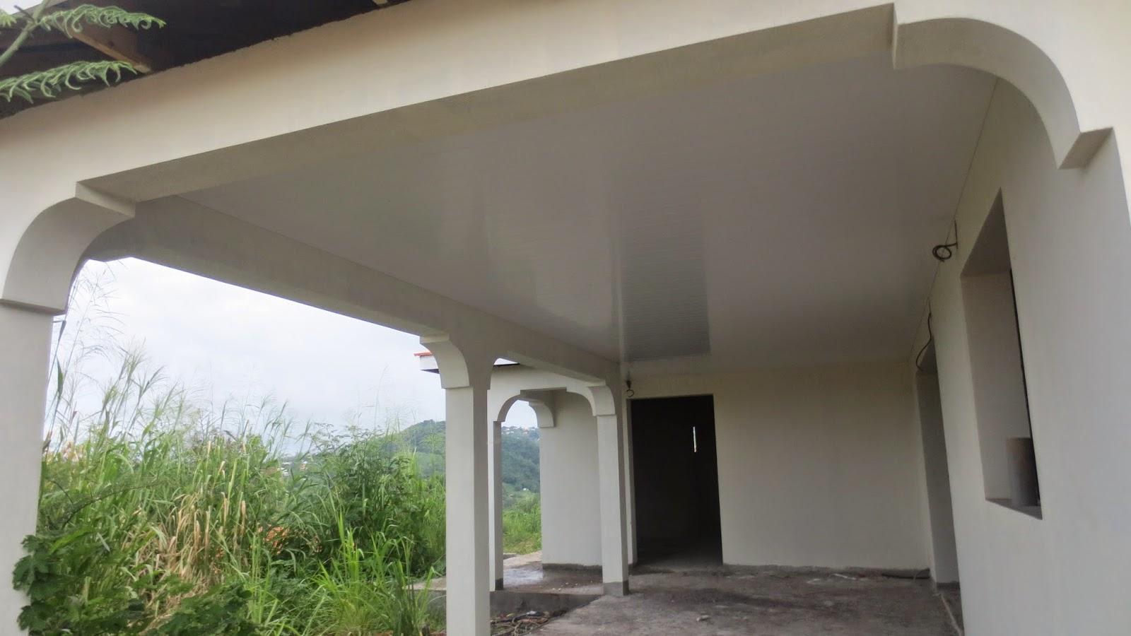 Le faux plafond la construction de notre maison en for Plafond terrasse