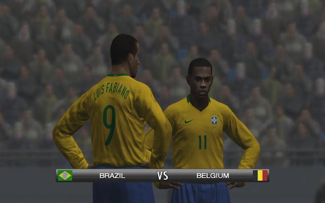Seleção brasileira devidamente licenciada em PES 2009