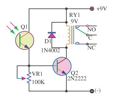 Light Switch Series With Photo Transistor Ic Schematics