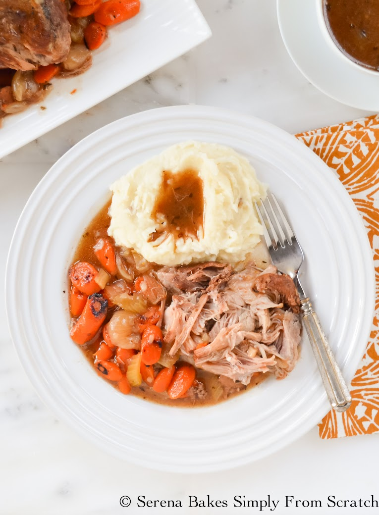 Balsamic Pork Pot Roast is tender, juicy and full of flavor.