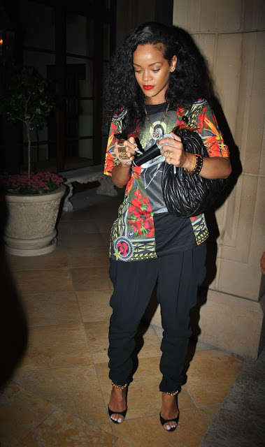 Rihanna Tom Ford Leather Chain Sandals