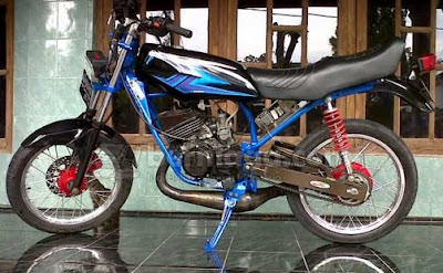 Modifikasi RX King Mantaf Blue
