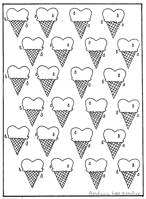 Heart Ice Cream Cones title=